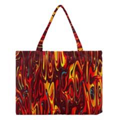 Effect Pattern Brush Red Orange Medium Tote Bag by Nexatart