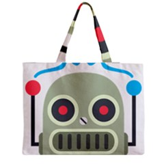 Robot Medium Zipper Tote Bag by BestEmojis