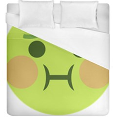 Barf Duvet Cover (king Size) by BestEmojis