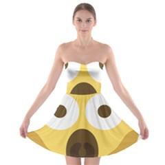 Scream Emoji Strapless Bra Top Dress by BestEmojis