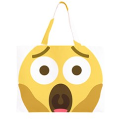 Scream Emoji Zipper Large Tote Bag by BestEmojis