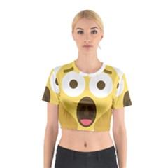 Scream Emoji Cotton Crop Top by BestEmojis