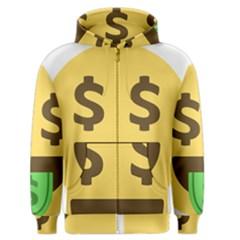 Money Face Emoji Men s Zipper Hoodie by BestEmojis