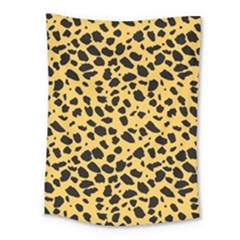 Skin Animals Cheetah Dalmation Black Yellow Medium Tapestry by Mariart