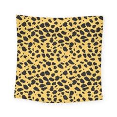 Skin Animals Cheetah Dalmation Black Yellow Square Tapestry (small) by Mariart