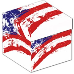 Red White Blue Star Flag Storage Stool 12   by Mariart