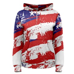 Red White Blue Star Flag Women s Pullover Hoodie