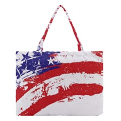 Red White Blue Star Flag Medium Tote Bag by Mariart