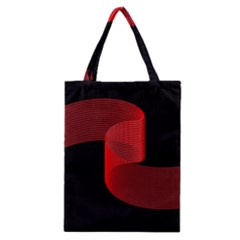 Tape Strip Red Black Amoled Wave Waves Chevron Classic Tote Bag by Mariart