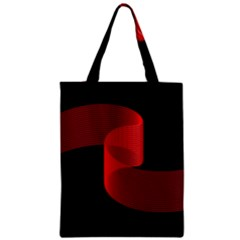Tape Strip Red Black Amoled Wave Waves Chevron Zipper Classic Tote Bag by Mariart