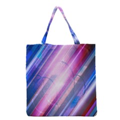 Widescreen Polka Star Space Polkadot Line Light Chevron Waves Circle Grocery Tote Bag by Mariart