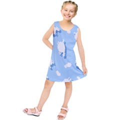 Vector Sheep Clouds Background Kids  Tunic Dress