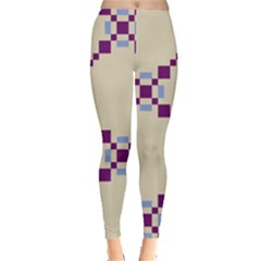 Pattern Background Vector Seamless Leggings  by Nexatart
