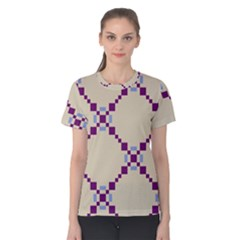 Pattern Background Vector Seamless Women s Cotton Tee