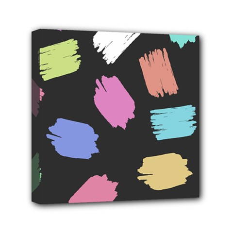 Many Colors Pattern Seamless Mini Canvas 6  X 6