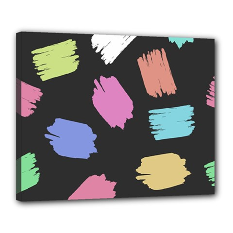 Many Colors Pattern Seamless Canvas 20  X 16