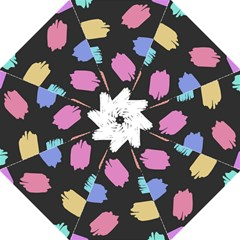 Many Colors Pattern Seamless Straight Umbrellas by Nexatart