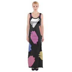 Many Colors Pattern Seamless Maxi Thigh Split Dress