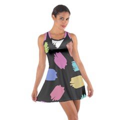 Many Colors Pattern Seamless Cotton Racerback Dress