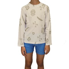 Pattern Culture Seamless American Kids  Long Sleeve Swimwear