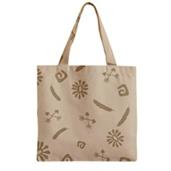 Pattern Culture Seamless American Zipper Grocery Tote Bag by Nexatart