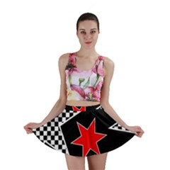 Stars Seamless Pattern Background Mini Skirt