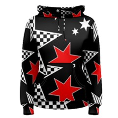 Stars Seamless Pattern Background Women s Pullover Hoodie