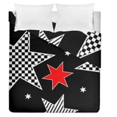 Stars Seamless Pattern Background Duvet Cover Double Side (queen Size)