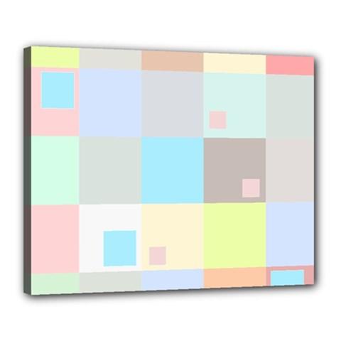 Pastel Diamonds Background Canvas 20  X 16  by Nexatart