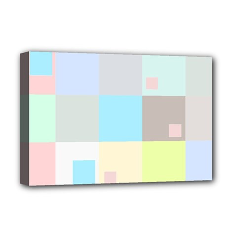 Pastel Diamonds Background Deluxe Canvas 18  X 12   by Nexatart