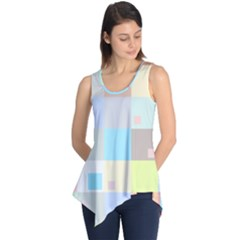 Pastel Diamonds Background Sleeveless Tunic