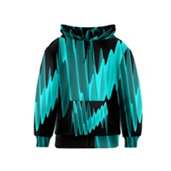 Wave Pattern Vector Design Kids  Zipper Hoodie