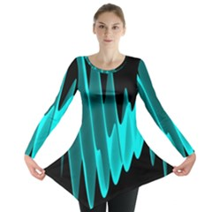 Wave Pattern Vector Design Long Sleeve Tunic