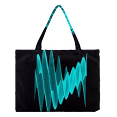 Wave Pattern Vector Design Medium Tote Bag by Nexatart