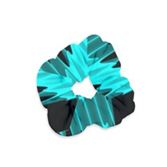 Wave Pattern Vector Design Velvet Scrunchie
