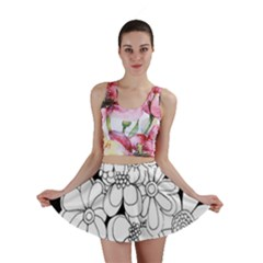 Mandala Calming Coloring Page Mini Skirt