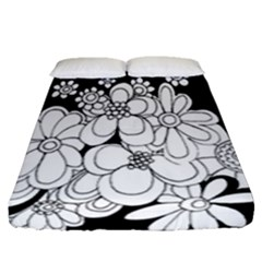 Mandala Calming Coloring Page Fitted Sheet (queen Size)