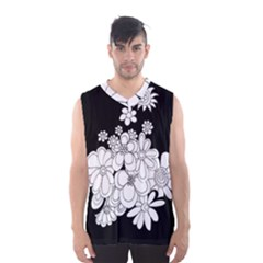 Mandala Calming Coloring Page Men s Basketball Tank Top