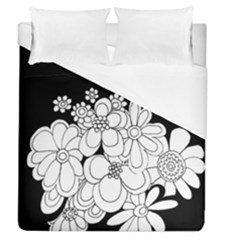 Mandala Calming Coloring Page Duvet Cover (queen Size)