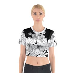 Mandala Calming Coloring Page Cotton Crop Top