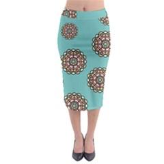 Circle Vector Background Abstract Midi Pencil Skirt