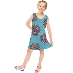 Circle Vector Background Abstract Kids  Tunic Dress