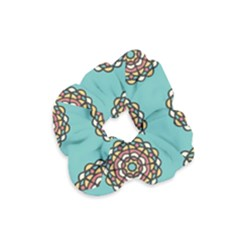 Circle Vector Background Abstract Velvet Scrunchie