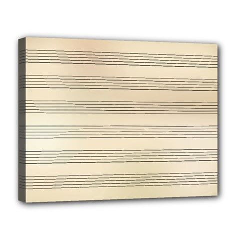 Notenblatt Paper Music Old Yellow Canvas 14  X 11  by Nexatart