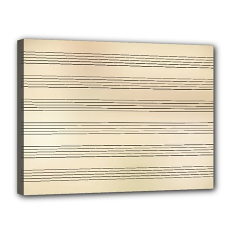 Notenblatt Paper Music Old Yellow Canvas 16  X 12  by Nexatart
