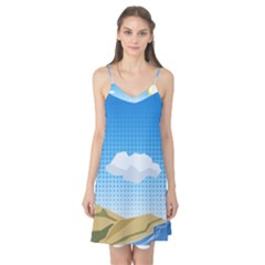 Grid Sky Course Texture Sun Camis Nightgown