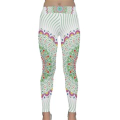 Flower Abstract Floral Classic Yoga Leggings