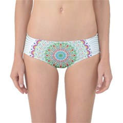 Flower Abstract Floral Classic Bikini Bottoms