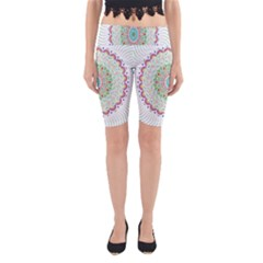 Flower Abstract Floral Yoga Cropped Leggings