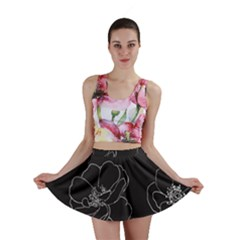 Rose Wild Seamless Pattern Flower Mini Skirt